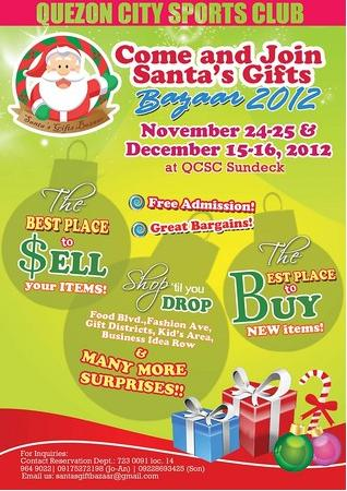 Quezon City Sports Club Bazaar 2012