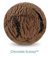 Chocolate Ecstasy - Rich chocolate fudge, swirled through our famous chocolate ice cream