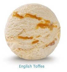 English Toffee - Premium toffee flavored ice cream with smooth toffee fudge ripple