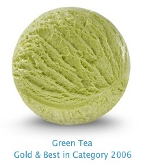 Green Tea - A subtle green tea flavored ice cream infused with exotic flavors