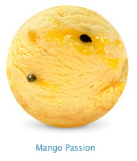 Mango Passion Frozen Yoghurt - 97% fat free frozen yoghurt, with a tropical blend of real mango and passionfruit