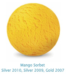 Mango Sorbet - 99% fat free, cholesterol free, non dairy luscious mango sorbet, made with real mango
