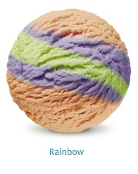 Rainbow - A kaleidoscope of natural flavors with a bubblegum flavor