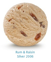 Rum & Raisin - Rum flavored ice cream with plump juicy raisins