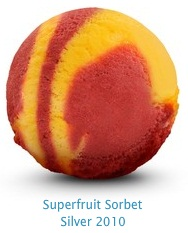 Superfruit Sorbet - All natural sorbet, combining the zest of pomegranate with tangy blackcurrant, exotic goji berry and tropical passionfruit. These fruits are renowned for their antioxidant properties